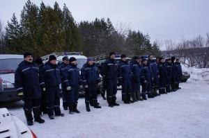 Зимние учения спасателей